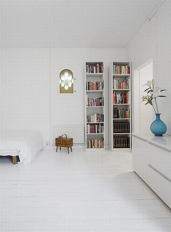 clean white small apartment interior design 7 554x749 Simple and Elegant White Apartment