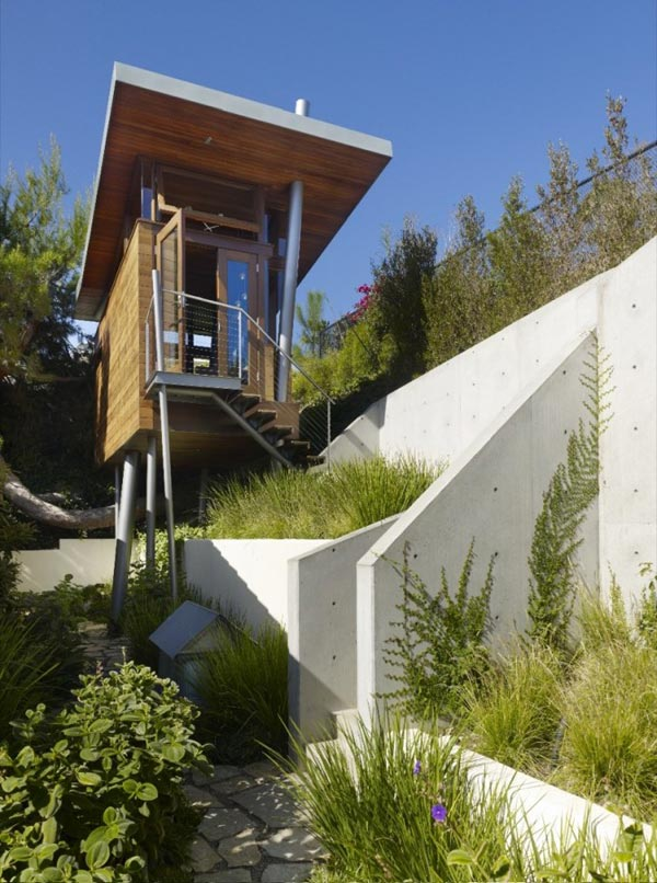 luxury tree house rpa 2 Tree House overlooking L.A., a Luxurious Place of Retreat