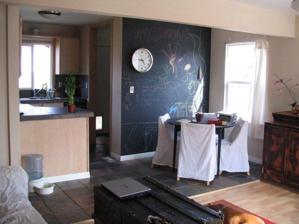 chalkboard trend 2 600x450 Apartment Chalkboards : Creative or Messy?
