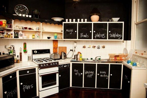 chalkboard kitchen Apartment Chalkboards : Creative or Messy?