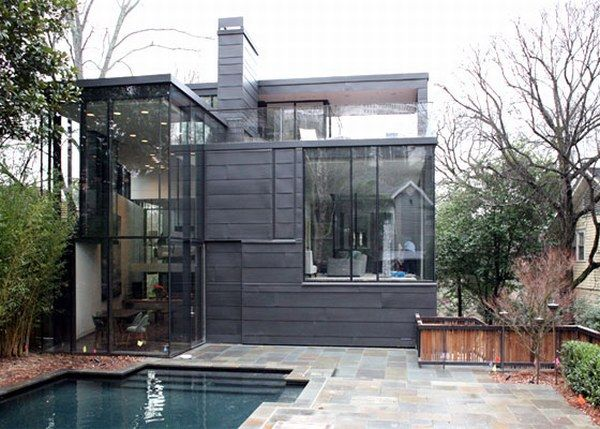 darkglasshouse A Place Combining Glass and Darkness: the Ansley Park Glass House in Atlanta
