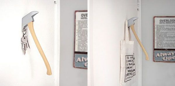 axe coat hanger 25 of the Most Creative Wall Hook Designs
