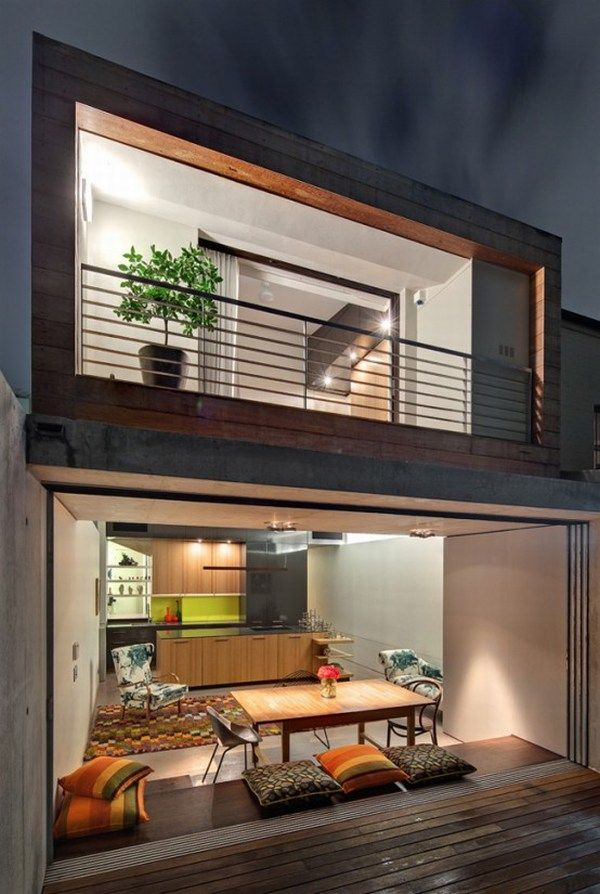 hard timber clad house design 4 554x825 Stirling Residence: Hard Timber and Architectural Genius