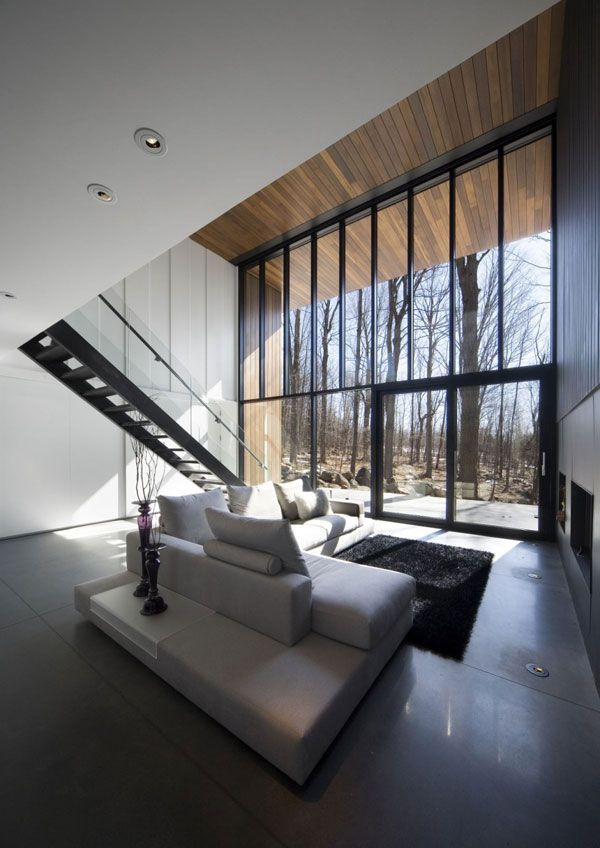 mountain chalet plan quebec canada 2 Modern Mountain Cottage in Quebec, by Blouin Tardif Architecture