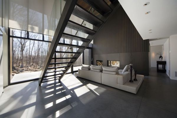 mountain chalet plan quebec canada 3 Modern Mountain Cottage in Quebec, by Blouin Tardif Architecture