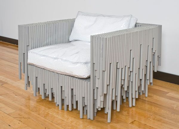 unusual material chair2 Furniture made with odd and unusual materials by BRC Designs