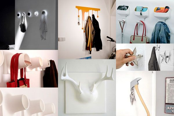 wall hooks 25 of the Most Creative Wall Hook Designs