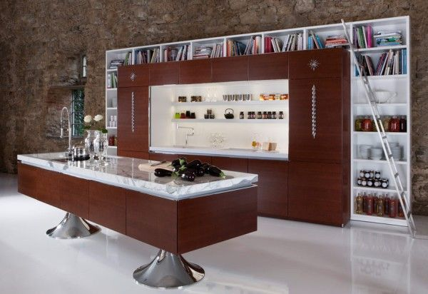 library kitchen 25 Modern Kitchen Designs That Will Rock Your Cooking World