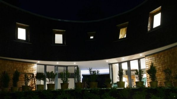 villa san valentino91 Charming Modern House with a Twisted Traditional Exterior