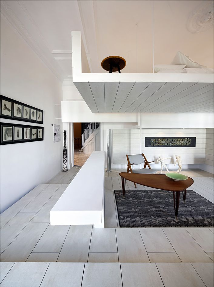 home interior Ceramic House in Madrid with Stunning Multi Level Interiors