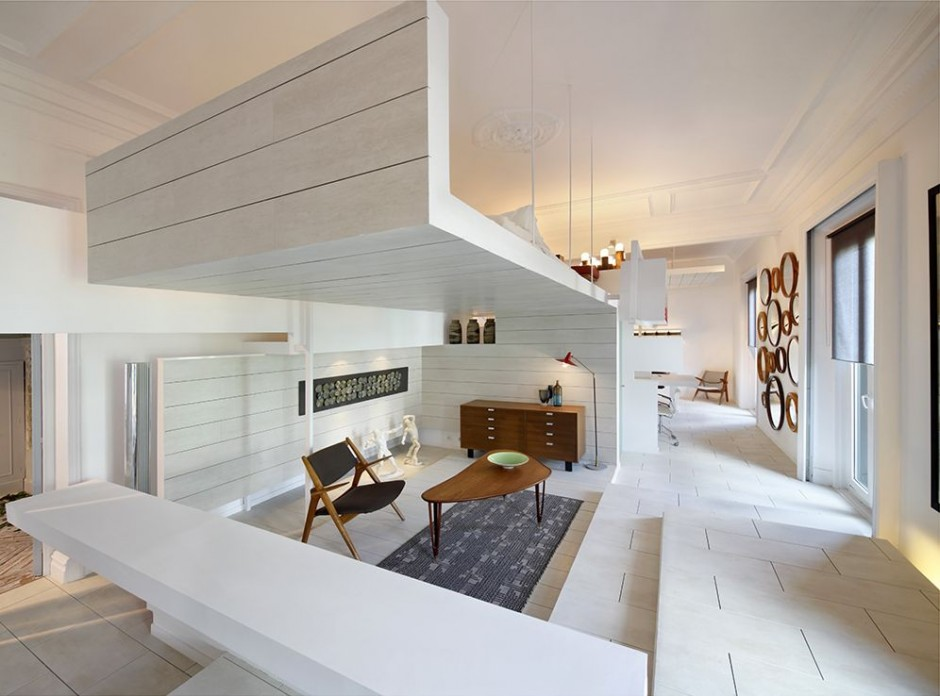 home interior4 Ceramic House in Madrid with Stunning Multi Level Interiors