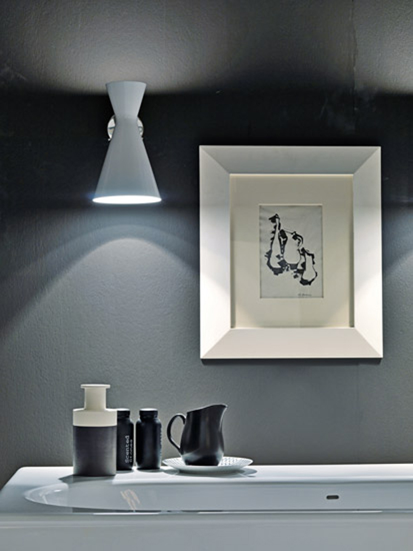 COCO Falper 2 Gorgeous Textured Bathroom Furniture in Black and White from Falper