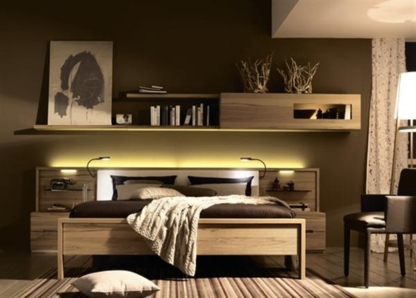 Wall mounted shelf Contemporary Natural Bedroom Interior Design Dreamy Bedroom Furniture from Hulsta