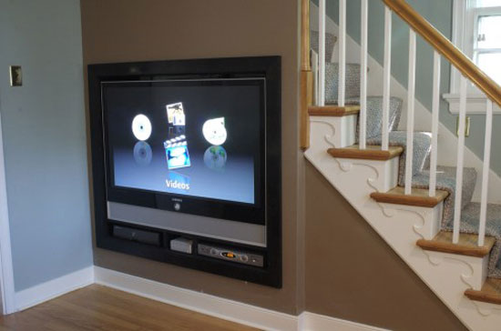 under stair entertainment 495x328 home decor