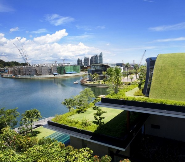amazing villa Freshome 03 Inspiring Home with One Garden per Level in Singapore