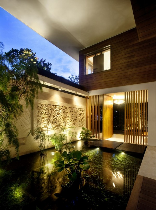 amazing villa Freshome 09 Inspiring Home with One Garden per Level in Singapore