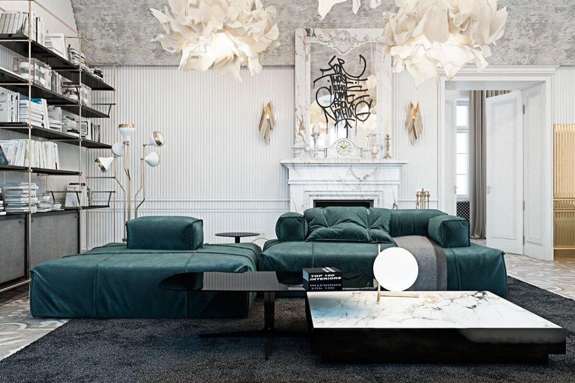 Ornate Home in Italy Contrasts Modern Pieces with Palatial ...