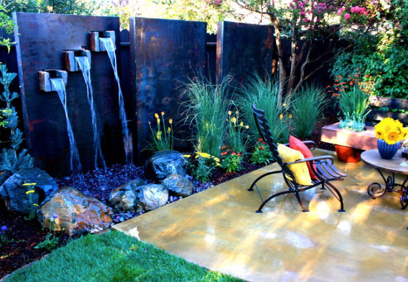 20 Small Garden Water Feature Ideas To Add A Little More ... on Water Feature Ideas For Patio id=37792