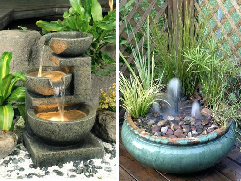 20 Small Garden Water Feature Ideas To Add A Little More ... on Water Feature Ideas For Patio id=67786