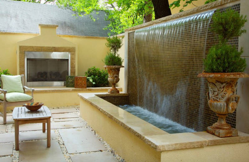 20 Small Garden Water Feature Ideas To Add A Little More ... on Water Feature Ideas For Patio id=80554