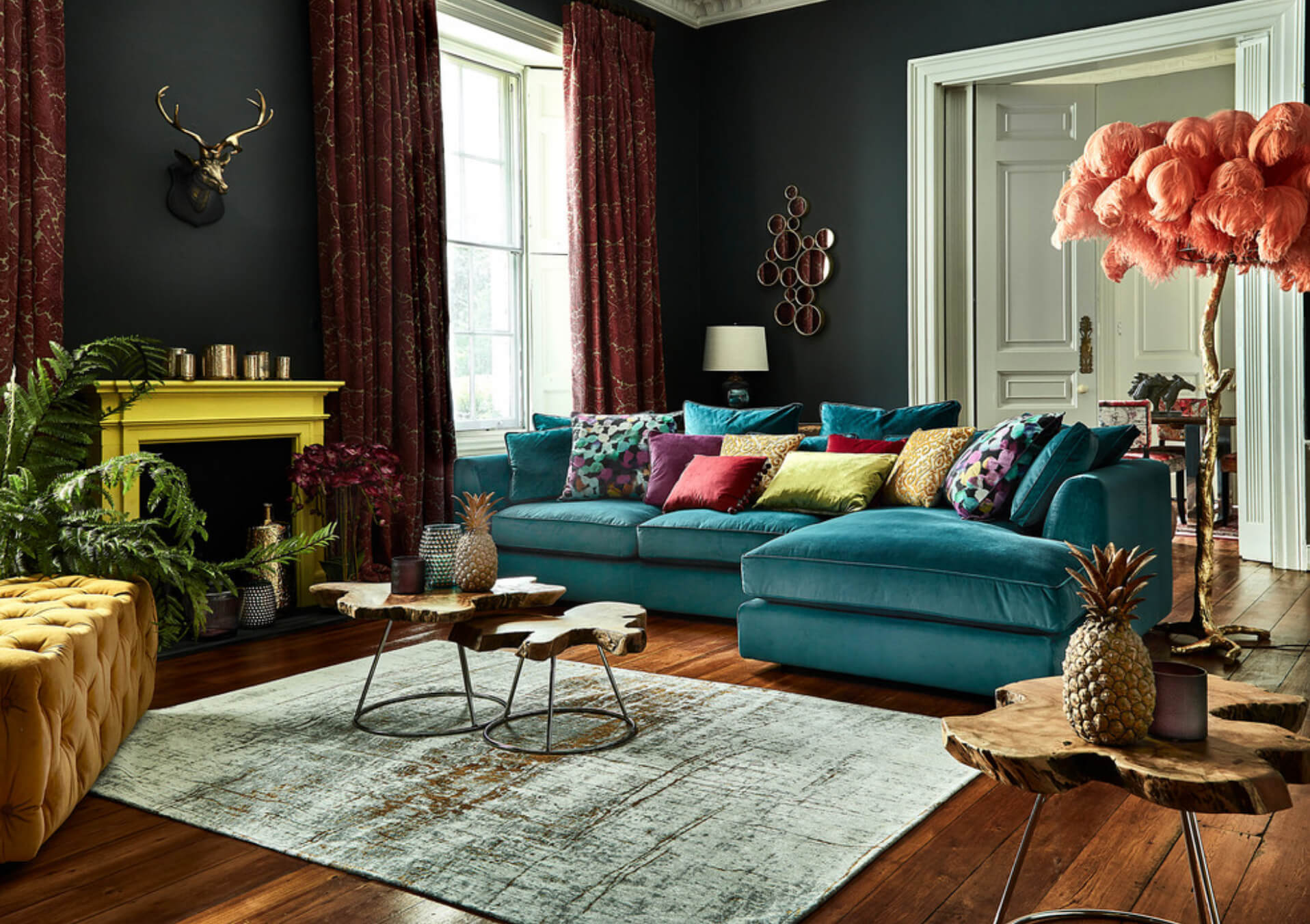 More Is More: 9 Ways to Rock the Maximalism Trend ... on Living Room:5J0Grrq-Soy= Curtains Design  id=13974