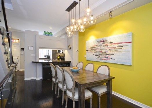 decorating with yellow paint