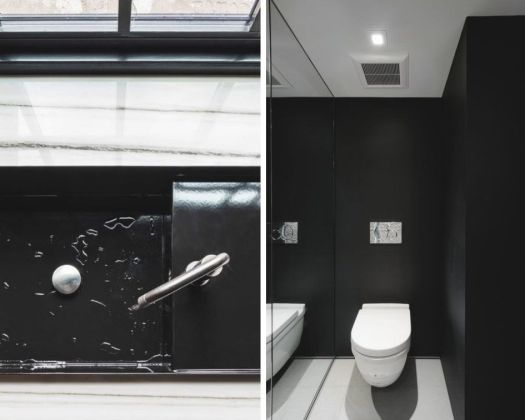 Powder room designed by Janik Lemery; Photography by Justin Van Leeuwen of JVL Photography