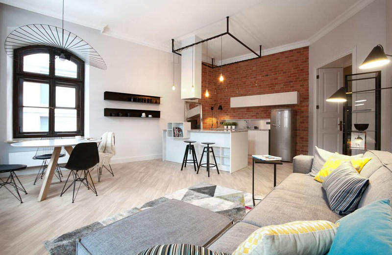 A Gracefully Rejuvenated Industrial Style Apartment In