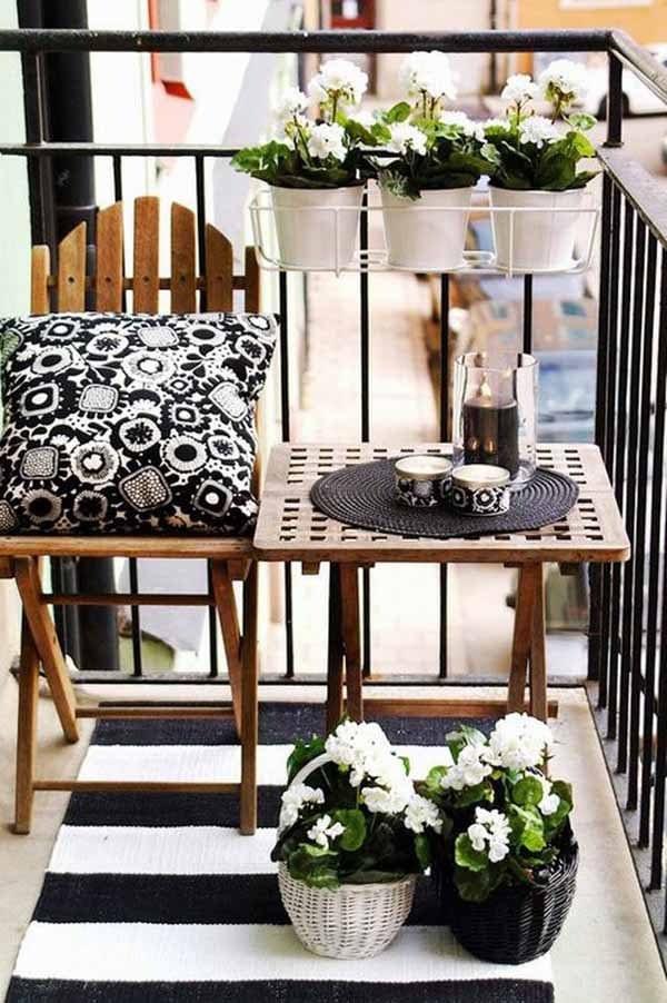ideen f r einen kleinen balkon nxsone45. Black Bedroom Furniture Sets. Home Design Ideas