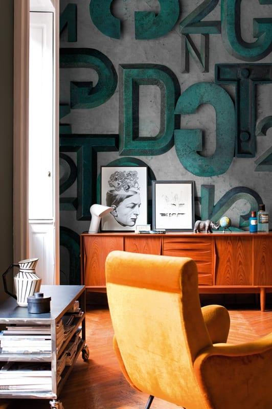 Innenraumgestaltung Coole Mustertapeten Von WallampDeco