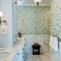 amazing bathroom wallpaper