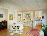 Interior kitchen with modern chair
