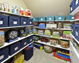 Contemporary Closet Toys Storage