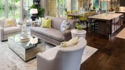 Modern Living Room With Wooden Floor Design