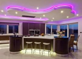 Purple Strip Lighting
