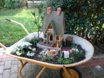 Wheelbarrow Fairy Garden