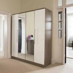 Furniture Bedroom Closet Door Ideas Cool Modern New 2017 Inside Stuart: Cool And Modern Wardrobe With Refined Door Design