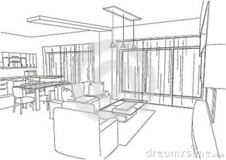 Dreaming Living Room Sketch