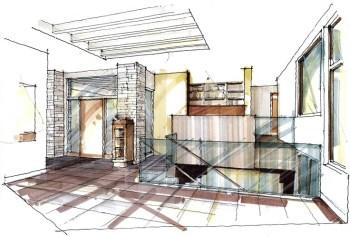 Architecture Interior Sketches