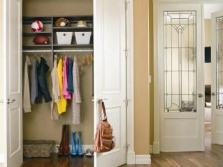 Choosing Unique Closet Doors In Closet Door With Folding Hooks