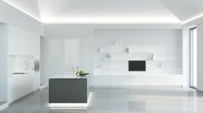 Contemporary Minimalist Kitchen Design: Where Function Meets Fashion With Minimal Super Stylish White Kitchen