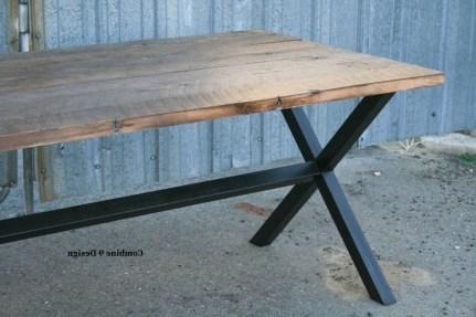 Custom Made Vintage Industrial Dining Table Minimalist In Minimalist Modern Table