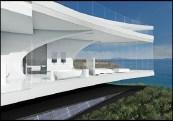 Enchanting Unique Modern House Design Features White Wall Paint With Regard To Unique House Design