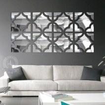 Funlife Flower Square Loop 3D Acrylic Mirror Wall Stickers For Stickers Mirror For Your Wall