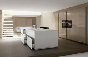 Large Minimal Super Stylish White Kitchen Pertaining To Minimal White Kitchen