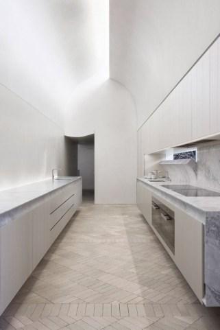 Minimal Super Stylish White Kitchen In Minimal White Kitchen