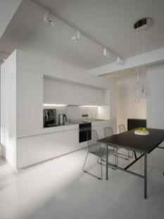 Minimal Super Stylish White Kitchen Intended For Minimal White Kitchen