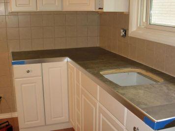 Ceramic Tile Kitchen Counter