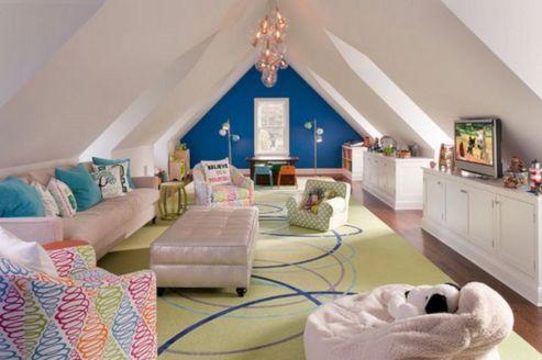 63+ Comfortable Attic Playroom Design Ideas / FresHOUZ.com