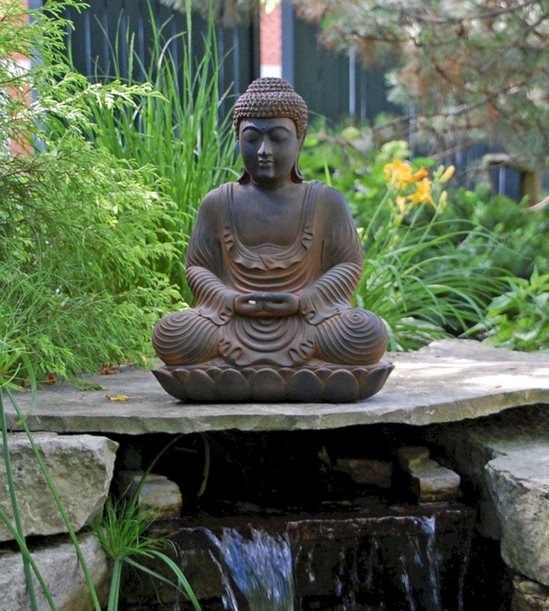 Meditating Buddha Garden Statues